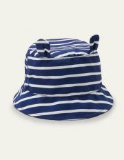 Fun Stripe Woven Hat College Navy/Ivory Baby Boden, College Navy/Ivory