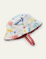 Reversible Jersey Hat Multi Aeroplanes Baby Boden, Multi Aeroplanes