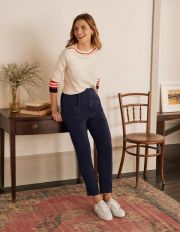 Albemarle Pull On Trousers Navy Women Boden, Navy