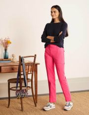 Abingdon Trousers Pink Sunset Women Boden, Pink Sunset