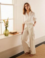 Ailesbury Cargo Trousers Sand Women Boden, Sand